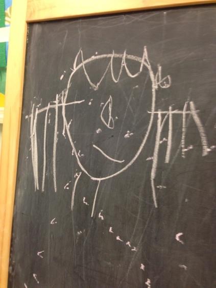 Nolin's Chalk Board Self Portrait